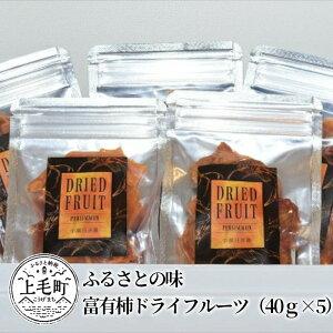 【ふるさと納税】K02802 ふるさとの味 富有柿ドライフルーツ(40g×5)