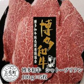 【ふるさと納税】KY3001 博多和牛シャトーブリアン 100g×5枚
