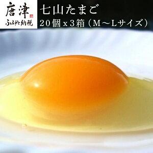 【ふるさと納税】 七山たまご 20個箱×3(M〜Lサイズ相当)