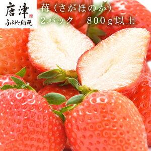 【ふるさと納税】【予約受付中】 苺(さがほのか)2パック 800g以上 フルーツ 果物 ギフト