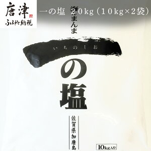 【ふるさと納税】 irodoriからつ 四季の返礼品 一の塩 20kg(10kg×2袋)