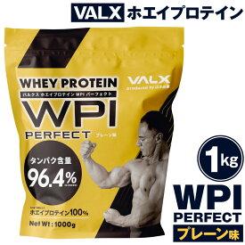 【ふるさと納税】20-42 VALX ホエイプロテイン WPI パーフェクト プレーン味 1kg