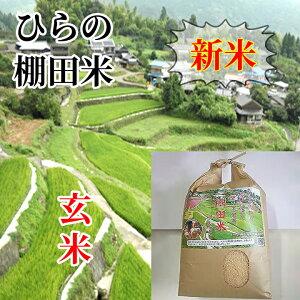 【ふるさと納税】c−86【令和3年新米】ひらの棚田米 夢しずく 玄米10kg×2袋(20kg)