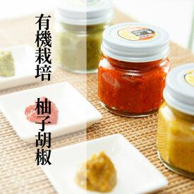 【ふるさと納税】b−13銀座有名店使用の有機栽培柚子胡椒(ゆずこしょう)A