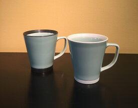 【ふるさと納税】H575白彩・黒彩マグカップ ペアセット