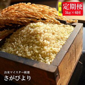 【ふるさと納税】G-5 《6ヶ月毎月お届け》鹿島市産さがびより 玄米5kg定期便