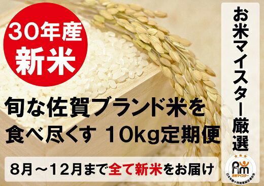 【ふるさと納税】J-5【新米限定定期便】佐賀県産ブランド米(白米10kg×5回コース)
