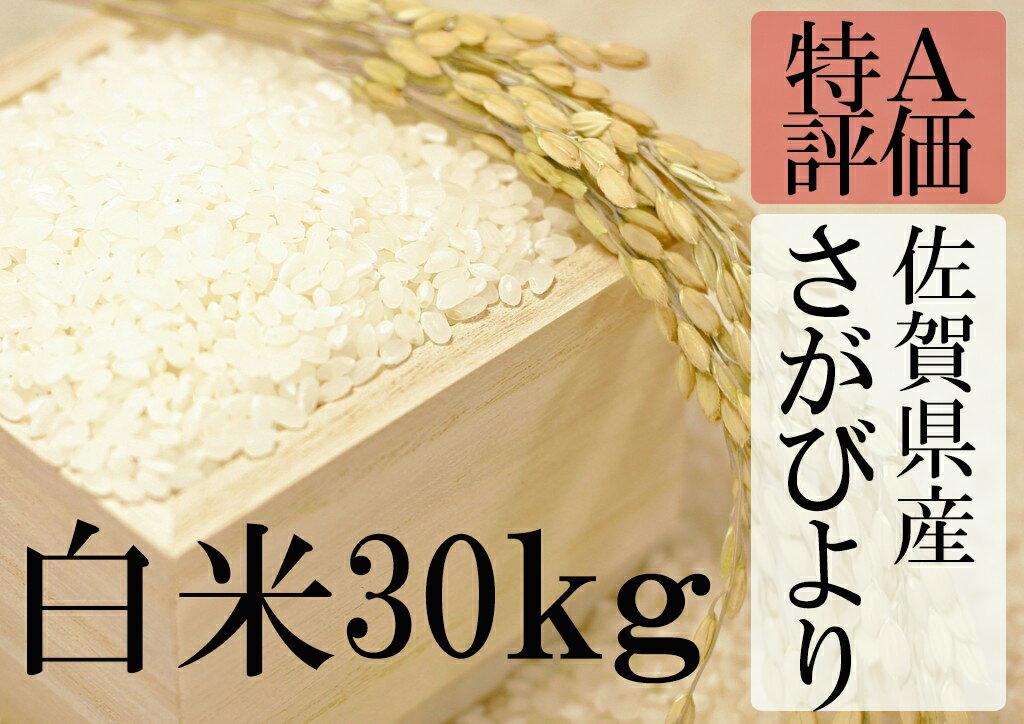 【ふるさと納税】F-9 【30年産新米】【特A】厳選!佐賀県産さがびより 白米30kg