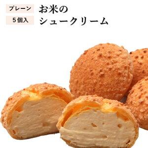 【ふるさと納税】お米のシュークリーム プレーン 5個 米粉使用 小麦粉不使用 お菓子 スイーツ 洋菓子 冷凍 ひのでや 送料無料 AA-25