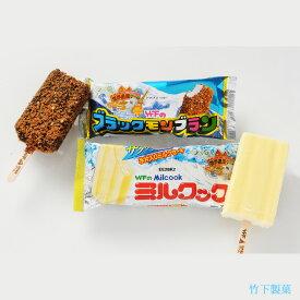 【ふるさと納税】ブラックモンブラン5本 ミルクック5本 送料無料 竹下製菓 九州限定 ご当地アイス