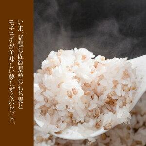 【ふるさと納税】佐賀ブランド米・夢しずく(5kg)、もち麦(1kg)
