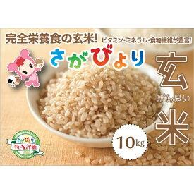【ふるさと納税】令和元年産 さがびより玄米10kg (H015112)
