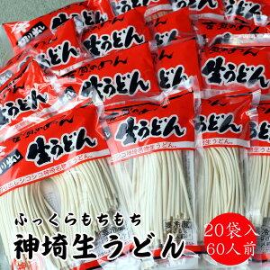 【ふるさと納税】ふっくらモチモチ神埼生うどん 20袋入 (H014114)
