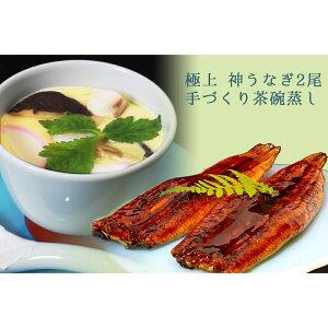 【ふるさと納税】九州産うなぎ2尾とこだわりの茶碗蒸しセット (H071103)