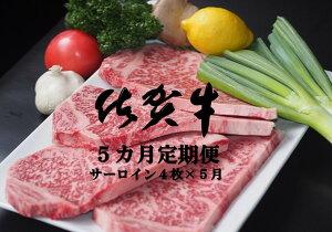 【ふるさと納税】KE-002R 佐賀牛サーロインステーキ 5カ月定期便(計20枚)