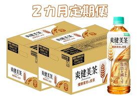 【ふるさと納税】B-101R 2カ月定期便 爽健美茶 健康素材の麦茶 600mlPET(計2ケース)【特定保健用食品】