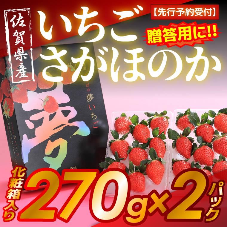 【ふるさと納税】 【先行予約受付】佐賀県産 高糖度いちご さがほのか 270g×2 化粧箱入り