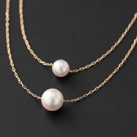 【ふるさと納税】【お洒落なシンプル♪】6.5/5mm アコヤ真珠 2連バーネックレス