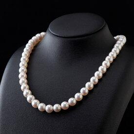 【ふるさと納税】五つ星級の真珠!オーロラ艶!ラウンド8.5-9.0mmアコヤ真珠ネックレス・ピアスorイヤリングセット