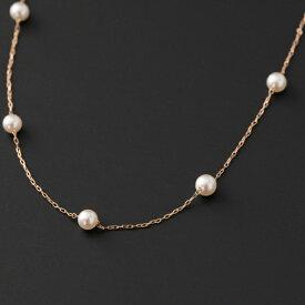 【ふるさと納税】【華奢可愛い♪】4mm アコヤ真珠ベビーのステーションネックレス