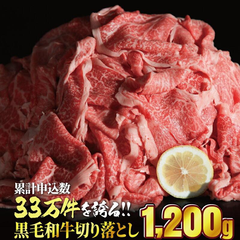 【ふるさと納税】黒毛和牛「切り落とし」1200g