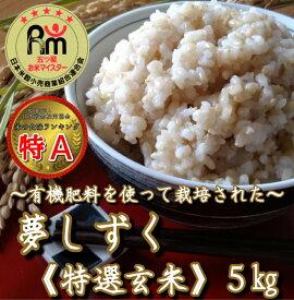 【ふるさと納税】《令和2年産米》有機肥料を使った『夢しずく』玄米5kg(みやき町産)(CI005)