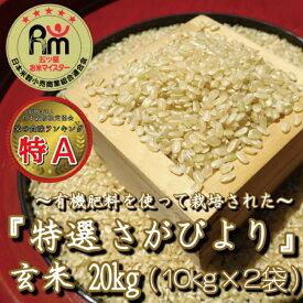 【ふるさと納税】みやき町産「特選さがびより」玄米20kg(10kg×2袋) (CI037)