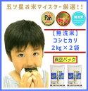【ふるさと納税】佐賀県産《コシヒカリ【巧味】無洗米》2kg×2袋(真空パック)(CI012)