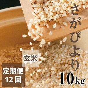 【ふるさと納税】【老舗米屋の店長厳選】さがびより毎月10キロお届け【12回コース】 玄米(BG080)
