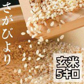 【ふるさと納税】令和3年度【老舗米屋の店長厳選】有機肥料を使った さがびより 玄米5kg 新米(BG101)