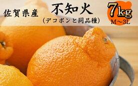 【ふるさと納税】佐賀県産 不知火 7kg M〜3Lサイズ【数量限定】 柑橘(DY025)