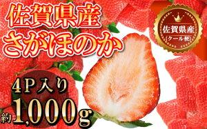 【ふるさと納税】佐賀県産さがほのか合計約1kg 250g×4P 苺 いちご イチゴ(DY038)