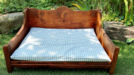 【ふるさと納税】犬と猫の木製ソファーベット 犬と猫の家具(EG002)