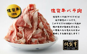 【ふるさと納税】佐賀牛バラ肉切り落とし(ブリスケ)250g×4パック(BN001)