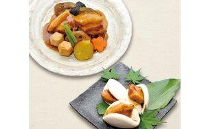 【ふるさと納税】楽縁 さくらポークセット【豚の角煮と野菜の炊き合わせ(500g)・角煮まん(3個)セット】