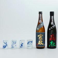 S65-1【ふるさと納税】宗政酒造宗政純米吟醸酒-15・純米吟醸酒炎杜四季杯セット