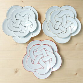 A35-8【ふるさと納税】まるふく 有田焼 田清窯 梅むすび皿6枚セット【陶磁器】