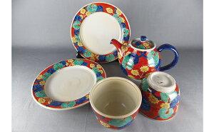 A100-21【ふるさと納税】ティータイムを彩る赤絵 茶器セット 月桃庵