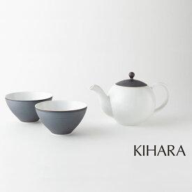 A35-37【ふるさと納税】KIHARA 茶葉ポット+せん茶×2