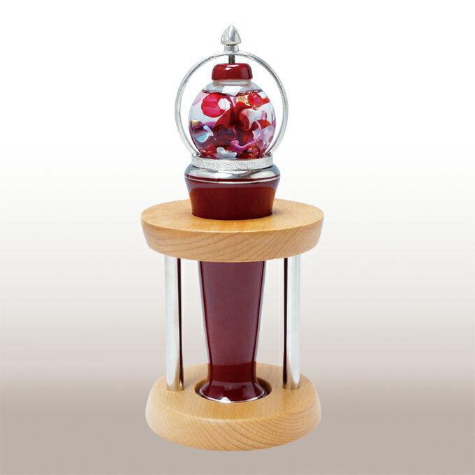 A150-14【ふるさと納税】 香蘭社 ベネチアンレッド ガラス球型オイルタイプ万華鏡