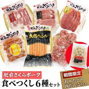【ふるさと納税】HG210004R 【肥前さくらポーク】を堪能!食べつくし6種セット+【期間限定】ありたどり肉だんご付き
