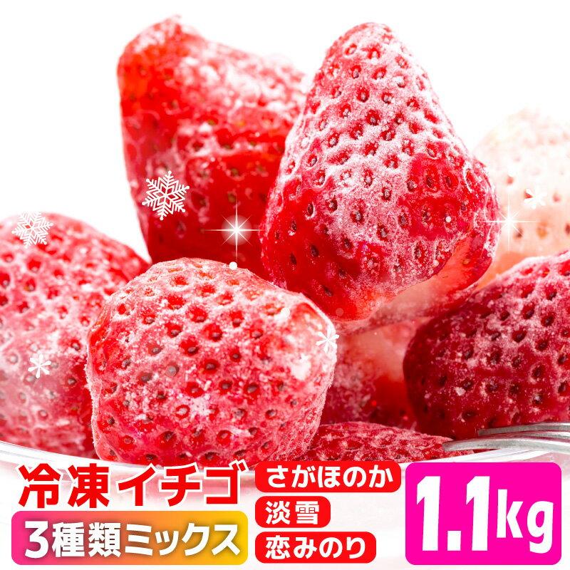 【ふるさと納税】KN001R 冷凍イチゴ[こおりいちご]1.1kg(淡雪ミックス)