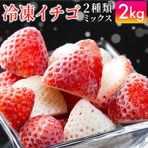 【ふるさと納税】SF19005R 冷凍いちご(さがほのかor恋みのり1600g、パールホワイト400g)合計2kg