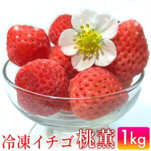 【ふるさと納税】TM19003R 冷凍いちご「桃薫」1kg