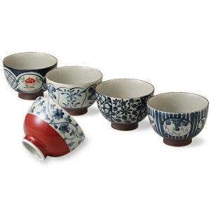 【ふるさと納税】【波佐見焼】古染絵がわり汁碗5個組【西海陶器】