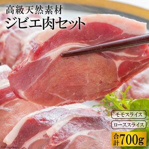 【ふるさと納税】ジビエ肉セット(イノシシ肉 モモ300g・ロース400g) 〜ヘルシーな高級天然食材〜