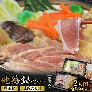 【ふるさと納税】地鶏鍋セット 野菜付 (2人前)