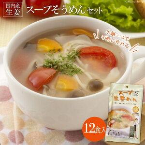 【ふるさと納税】伝統の味が若者のアイデアで進化 スープそうめんセット(生姜)