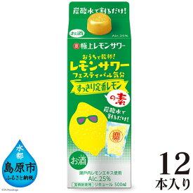 【ふるさと納税】寶「極上レモンサワーの素」すっきり定番レモン<紙パック> 500ml×12本入