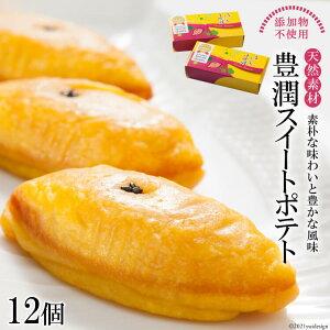 【ふるさと納税】しっとり なめらか 豊潤スイートポテト12個(6個×2箱)【無添加 芋 さつまいも サツマイモ 甘さひかえめ 人気 おすすめ オススメ ランキング 限定 お菓子 スイーツ おやつ